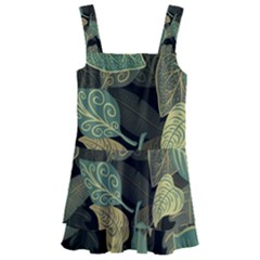 Autumn Fallen Leaves Dried Leaves Kids  Layered Skirt Swimsuit
