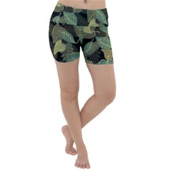 Autumn Fallen Leaves Dried Leaves Lightweight Velour Yoga Shorts