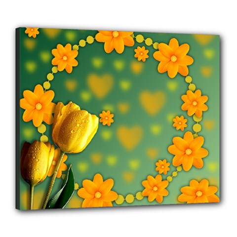 Background Design Texture Tulips Canvas 24  X 20  (stretched)