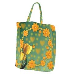 Background Design Texture Tulips Giant Grocery Tote