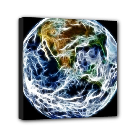 Spherical Science Fractal Planet Mini Canvas 6  X 6  (stretched) by Nexatart