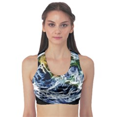 Spherical Science Fractal Planet Sports Bra
