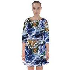 Spherical Science Fractal Planet Smock Dress