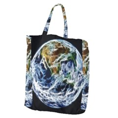 Spherical Science Fractal Planet Giant Grocery Tote