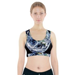 Spherical Science Fractal Planet Sports Bra With Pocket