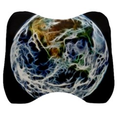 Spherical Science Fractal Planet Velour Head Support Cushion by Nexatart