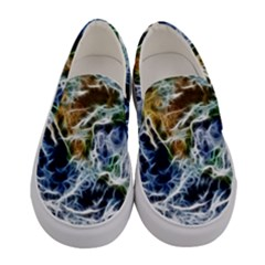 Spherical Science Fractal Planet Women s Canvas Slip Ons