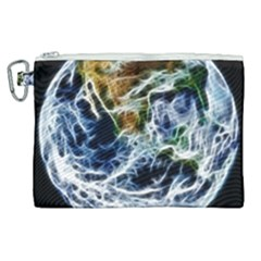 Spherical Science Fractal Planet Canvas Cosmetic Bag (xl) by Nexatart