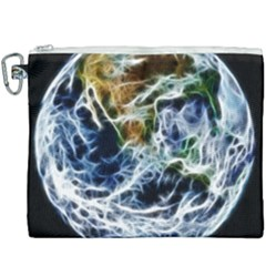 Spherical Science Fractal Planet Canvas Cosmetic Bag (xxxl) by Nexatart