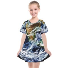 Spherical Science Fractal Planet Kids  Smock Dress