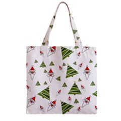 Christmas Santa Claus Decoration Zipper Grocery Tote Bag by Nexatart