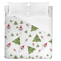 Christmas Santa Claus Decoration Duvet Cover (queen Size)
