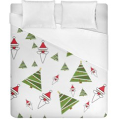 Christmas Santa Claus Decoration Duvet Cover (california King Size)