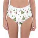 Christmas Santa Claus Decoration Reversible High-Waist Bikini Bottoms View1