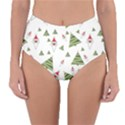 Christmas Santa Claus Decoration Reversible High-Waist Bikini Bottoms View3