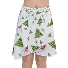 Christmas Santa Claus Decoration Chiffon Wrap Front Skirt