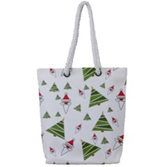 Christmas Santa Claus Decoration Full Print Rope Handle Tote (small)