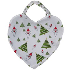 Christmas Santa Claus Decoration Giant Heart Shaped Tote