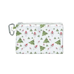 Christmas Santa Claus Decoration Canvas Cosmetic Bag (small) by Nexatart