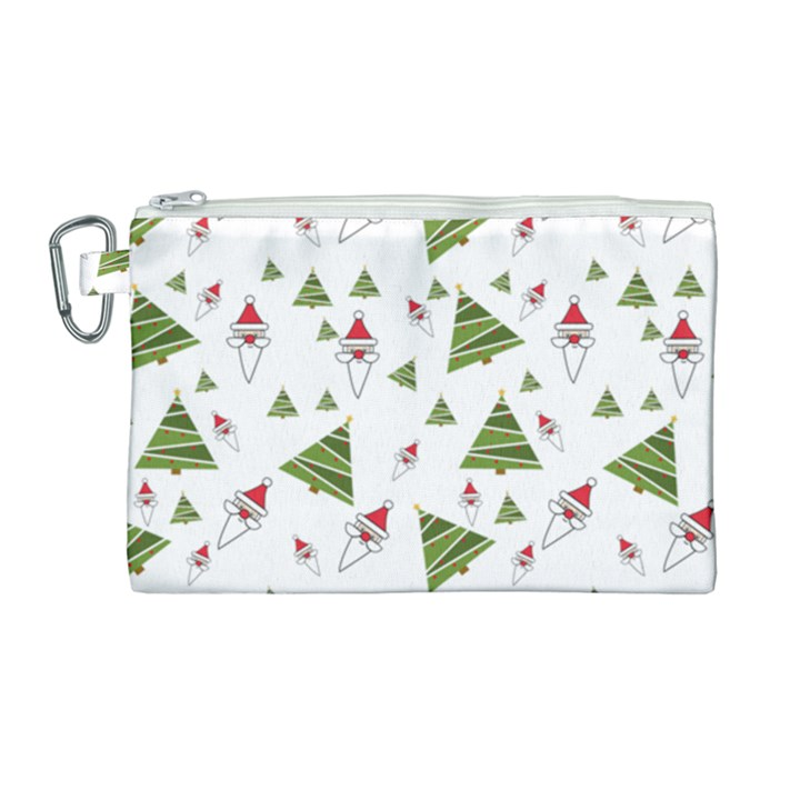 Christmas Santa Claus Decoration Canvas Cosmetic Bag (Large)