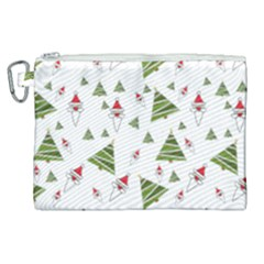 Christmas Santa Claus Decoration Canvas Cosmetic Bag (xl)