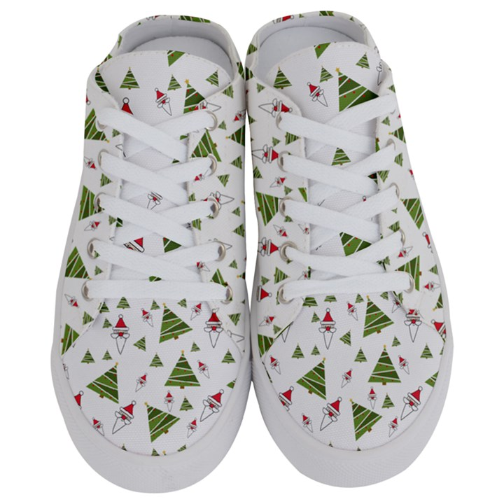 Christmas Santa Claus Decoration Half Slippers