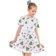 Christmas Santa Claus Decoration Kids  Short Sleeve Shirt Dress