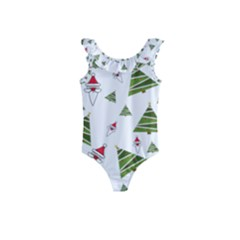 Christmas Santa Claus Decoration Kids  Frill Swimsuit by Nexatart