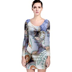 Model Color Traditional Long Sleeve Bodycon Dress