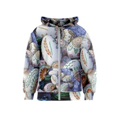 Model Color Traditional Kids  Zipper Hoodie