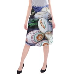 Model Color Traditional Midi Beach Skirt