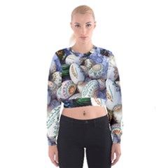 Model Color Traditional Cropped Sweatshirt