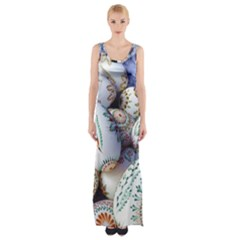 Model Color Traditional Maxi Thigh Split Dress