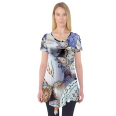 Model Color Traditional Short Sleeve Tunic