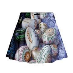 Model Color Traditional Mini Flare Skirt