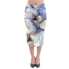 Model Color Traditional Midi Pencil Skirt