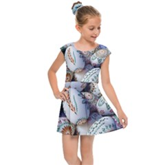 Model Color Traditional Kids Cap Sleeve Dress
