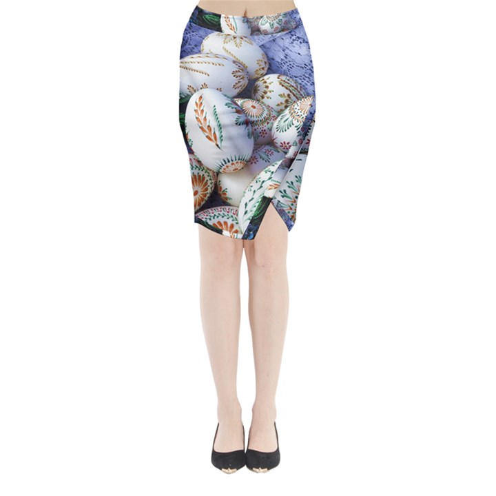 Model Color Traditional Midi Wrap Pencil Skirt