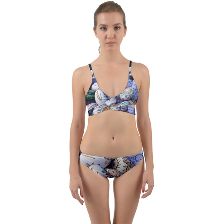 Model Color Traditional Wrap Around Bikini Set