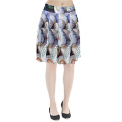Model Color Traditional Pleated Skirt