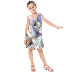 Model Color Traditional Kids  Sleeveless Dress