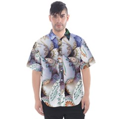Model Color Traditional Men s Short Sleeve Shirt by Nexatart
