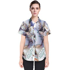 Model Color Traditional Women s Short Sleeve Shirt