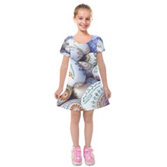 Model Color Traditional Kids  Short Sleeve Velvet Dress