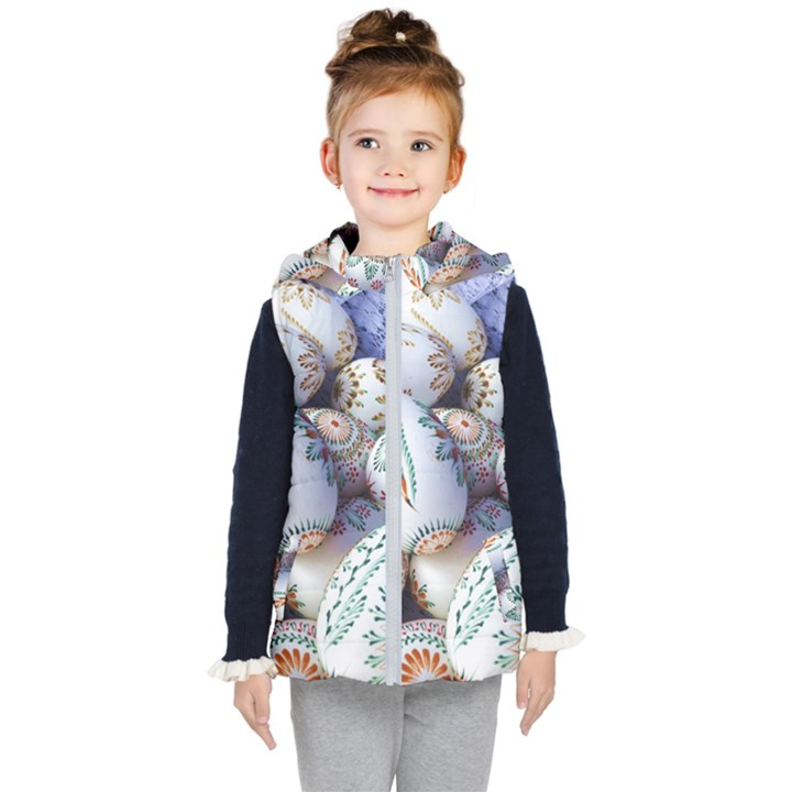 Model Color Traditional Kid s Hooded Puffer Vest