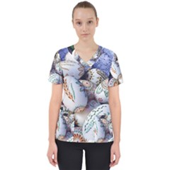 Model Color Traditional Women s V-Neck Scrub Top
