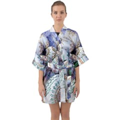Model Color Traditional Quarter Sleeve Kimono Robe