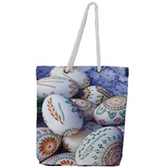 Model Color Traditional Full Print Rope Handle Tote (Large)
