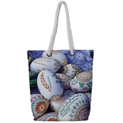 Model Color Traditional Full Print Rope Handle Tote (Small)