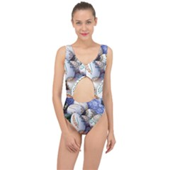 Model Color Traditional Center Cut Out Swimsuit
